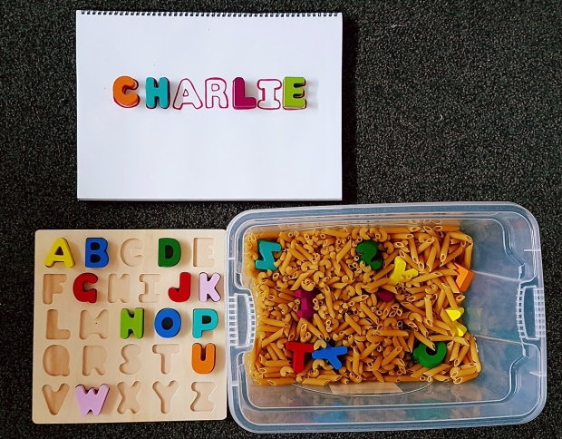 toddler activities using household items